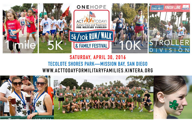 6th Annual ONEHOPE ACT Today! for Military Families 5k/10k Run/Walk & Family Festival - Saturday, April 30, 2016